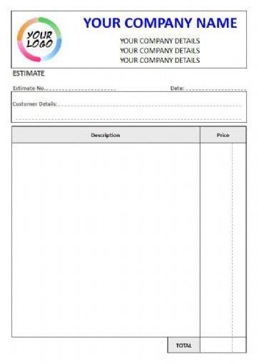 NCR Estimate Pads & Sets, 2 Column